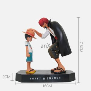 15cm Anime One Piece Four Emperors Shanks Straw Hat Luffy PVC Action Figure Going Merry Doll 2