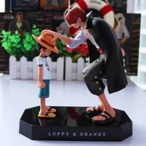 15cm Anime One Piece Four Emperors Shanks Straw Hat Luffy PVC Action Figure Going Merry Doll
