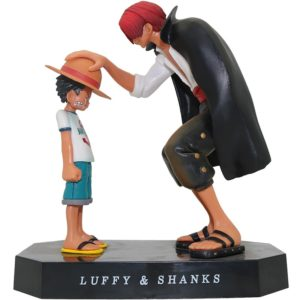 15cm Anime One Piece Four Emperors Shanks Straw Hat Luffy PVC Action Figure Going Merry Doll 5