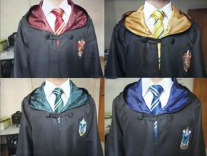 Cosplay Costumes Robe Cape with Tie Scarf Wand Glasses Cloak Harris Costume 4