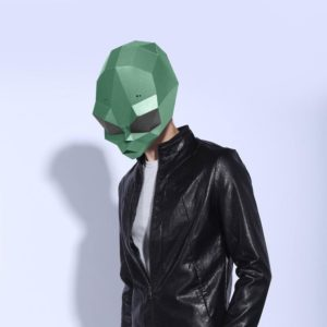 DIY Cosplay Paper Mask 3D Mask Toy Devil Paper Model Model Costume Halloween Party Kids Gifts 3