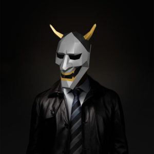 DIY Cosplay Paper Mask 3D Mask Toy Devil Paper Model Model Costume Halloween Party Kids Gifts 4