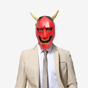 DIY Cosplay Paper Mask 3D Mask Toy Devil Paper Model Model Costume Halloween Party Kids Gifts 5