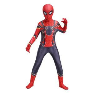 Red and black birthday spider costume adult suit costume child cosplay costume Halloween kid adult Selling 3