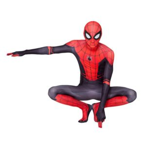 Red and black birthday spider costume adult suit costume child cosplay costume Halloween kid adult Selling 5